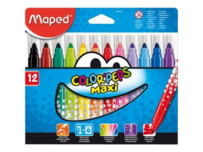 Coloriage Maped Color'Peps Maxi - Feutres - Pointe large