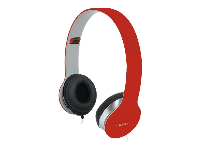 LogiLink Stereo High Quality Headset - Headset - Full-Size - Rot