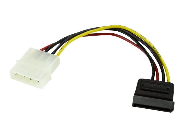 StarTech.com 6in 4 Pin LP4 to SATA Power Cable Adapter - LP4 to SATA - 6in LP4 to SATA Cable - 4 pin to SATA power - po…