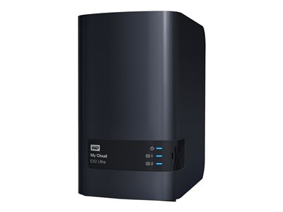 WD My Cloud EX2 Ultra WDBVBZ0000NCH Personal cloud storage device 2 bays RAID 0, 1, JBOD