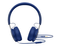 Beats EP - Casque avec micro - sur-oreille - filaire - jack 3,5mm - isolation acoustique - bleu - pour 10.5-inch iPad Pro; 12.9-inch iPad Pro; 9.7-inch iPad; 9.7-inch iPad Pro; iPad; iPad 1; 2; iPad Air; iPad Air 2; iPad mini; iPad mini 2; 3; 4; iPad with Retina display; iPhone 3G, 3GS, 4, 4S, 5, 5c, 5s, 6, 6 Plus, 6s, 6s Plus, SE; iPod classic; iPod nano; iPod shuffle (4G); iPod touch