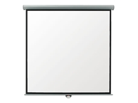 Metroplan Eyeline Electric Wall Screen - Projection screen - ceiling mountable, wall mountable - motorised - 1:1 - Matte White - cool white