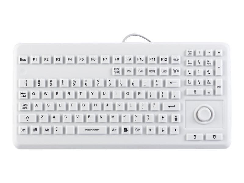 InduKey InduProof Advanced TKG-104-MB-IP68-VESA-GREY - Tastatur - mit Touchpad - USB - US - Grau