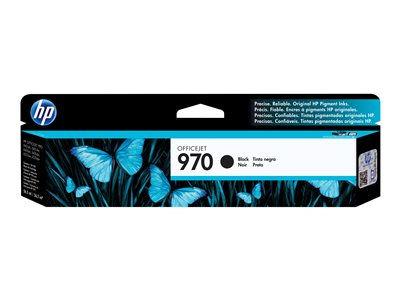 HP 970 - Black - original - ink cartridge - for Officejet Pro X451dn, X451dw, X476dn MFP, X476dw MFP, X551dw, X576dw MFP
