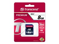 Transcend Ultimate - Carte mémoire flash - 8 Go - Class 10 - 200x - SDHC