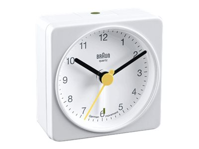 Braun BNC 002 Travel Alarm Clock white