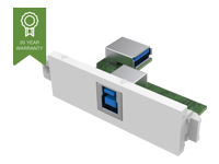 Picture of VISION TechConnect 3 USB-b module - modular facility plate snap-in (TC3 USBB)