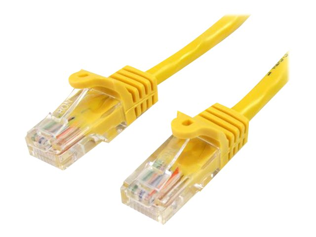 StarTech.com 6 ft Yellow Cat5e / Cat 5 Snagless Patch Cable 6ft
