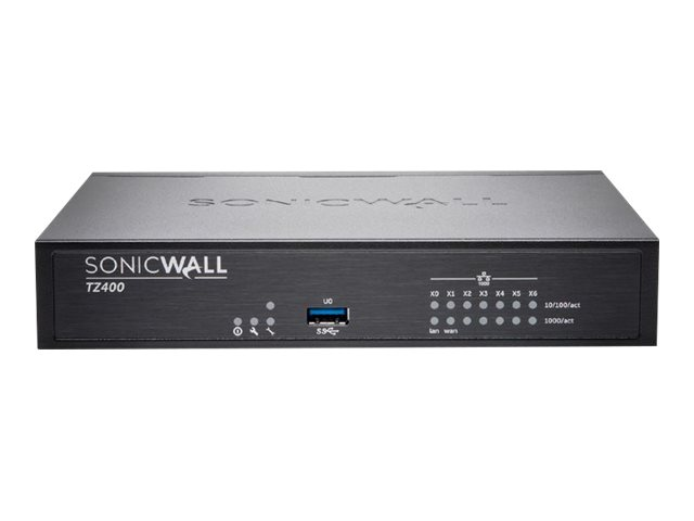 SonicWall TZ400 Wireless-AC - Advanced Edition - security appliance - with 1 year TotalSecure