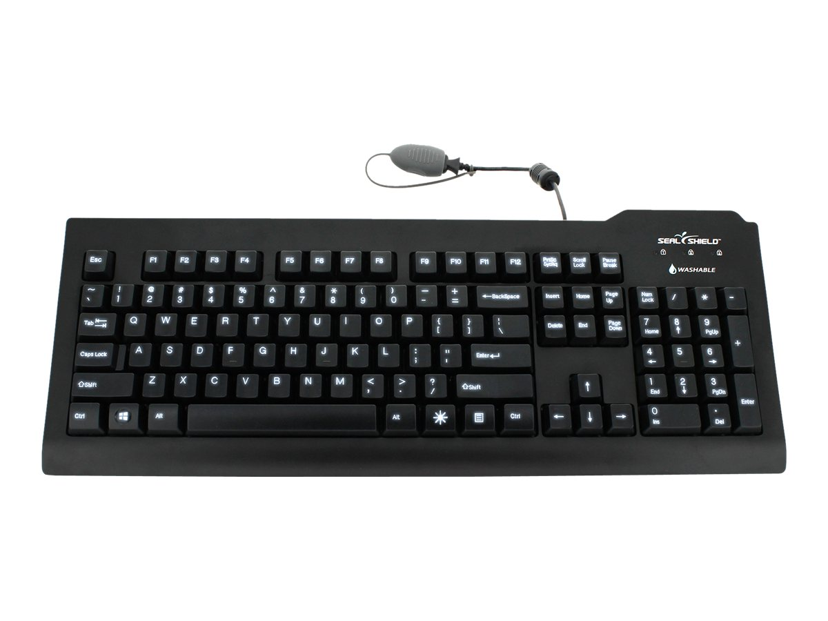 Seal Shield Silver Seal Glow Waterproof - keyboard - US - black