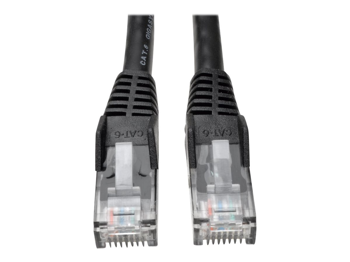 Tripp Lite 10ft Cat6 Gigabit Snagless Molded Patch Cable RJ45 M/M Black 10' - patch cable - 3.05 m - black