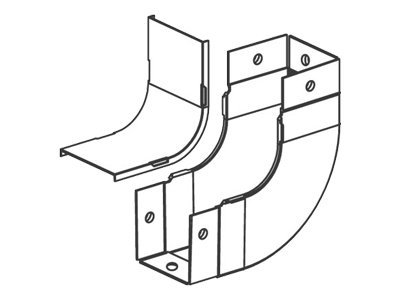 Panduit Fiber-Duct Vertical Right Angle Fitting - cable raceway inside corner
