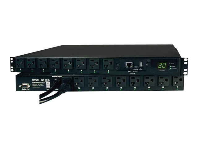 Tripp Lite PDU Switched ATS 120V 20A 5-15/20R 16 Outlet L5-20P Horizontal TAA