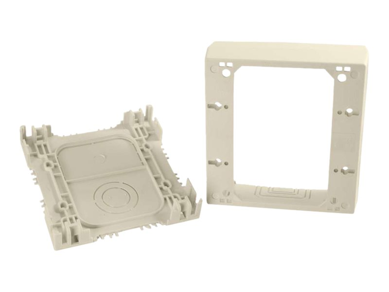 C2G Wiremold Uniduct Double Gang Deep Junction Box - Ivory - cable raceway junction box