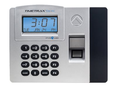 Pyramid TimeTrax Elite Bio Time clock system fingerprint 50 employees Ethernet