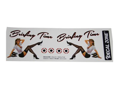"Decal Zone - Nose Art ""Briefing Time"" Sticker Decal"