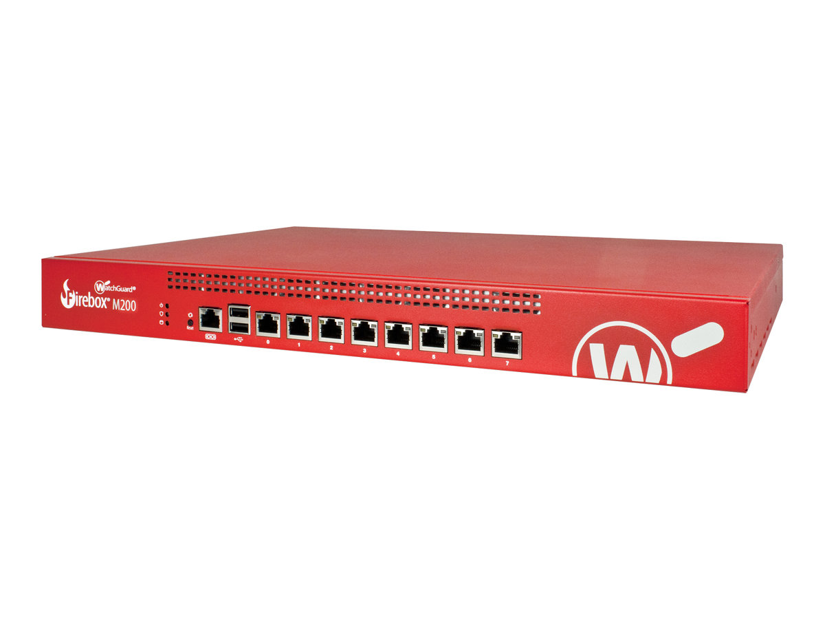 WatchGuard Firebox M200 - security appliance - with 3 years Basic Security Suite