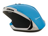 Verbatim Deluxe Mouse 8 buttons wireless 2.4 GHz USB wireless receiver blue