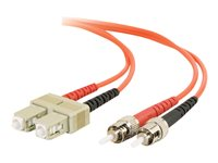 C2G 10m SC-ST 62.5/125 OM1 Duplex Multimode PVC Fiber Optic Cable Orange Patch cable