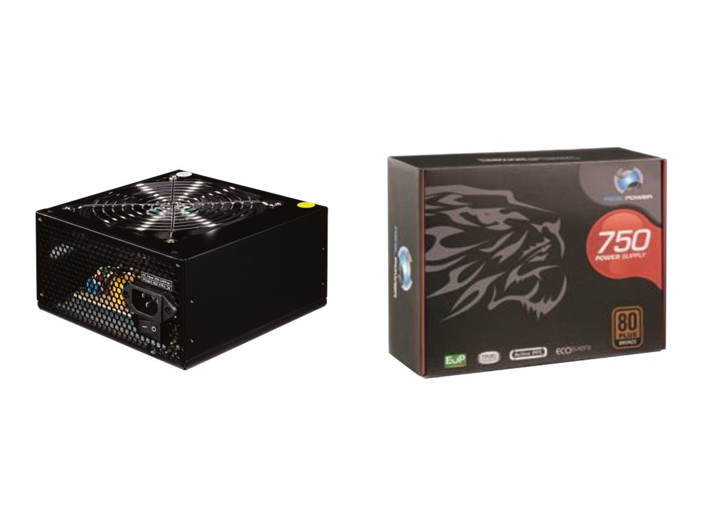 Realpower RP-750 - Stromversorgung ( intern ) - ATX12V 2.3 - 80 PLUS Bronze - 750 Watt - aktive PFC