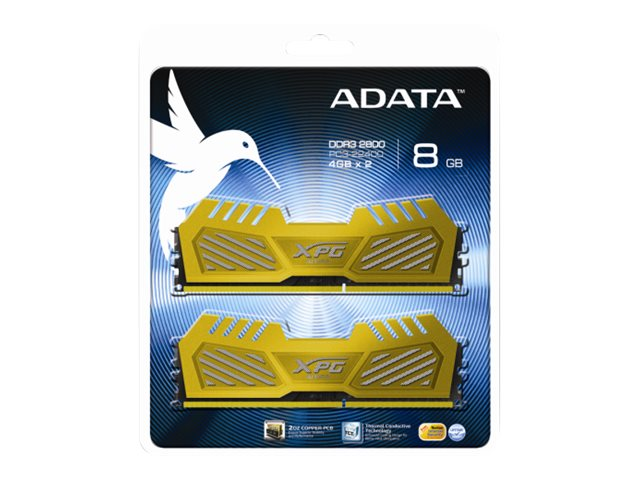 ADATA XPG V2 Series - DDR3 - 8 GB : 2 x 4 GB - DIMM 240-PIN - 2800 MHz / PC3-22400 - CL12