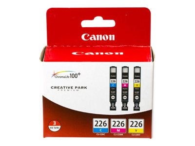 Canon CLI-226 3 Color Pack - yellow, cyan, magenta - original - ink tank