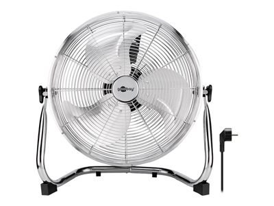 16-inch retro floor fan, chrome, 1.2 m - pleasantly refreshes you on hot days