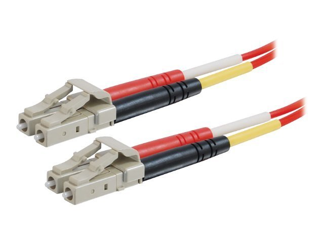 C2G LC-LC 62.5/125 OM1 Duplex Multimode Fiber Optic Cable (Plenum-Rated) - patch cable - 2 m - red