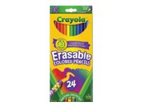 Crayola Erasable Colored pencil assorted colors with eraser pack of 24