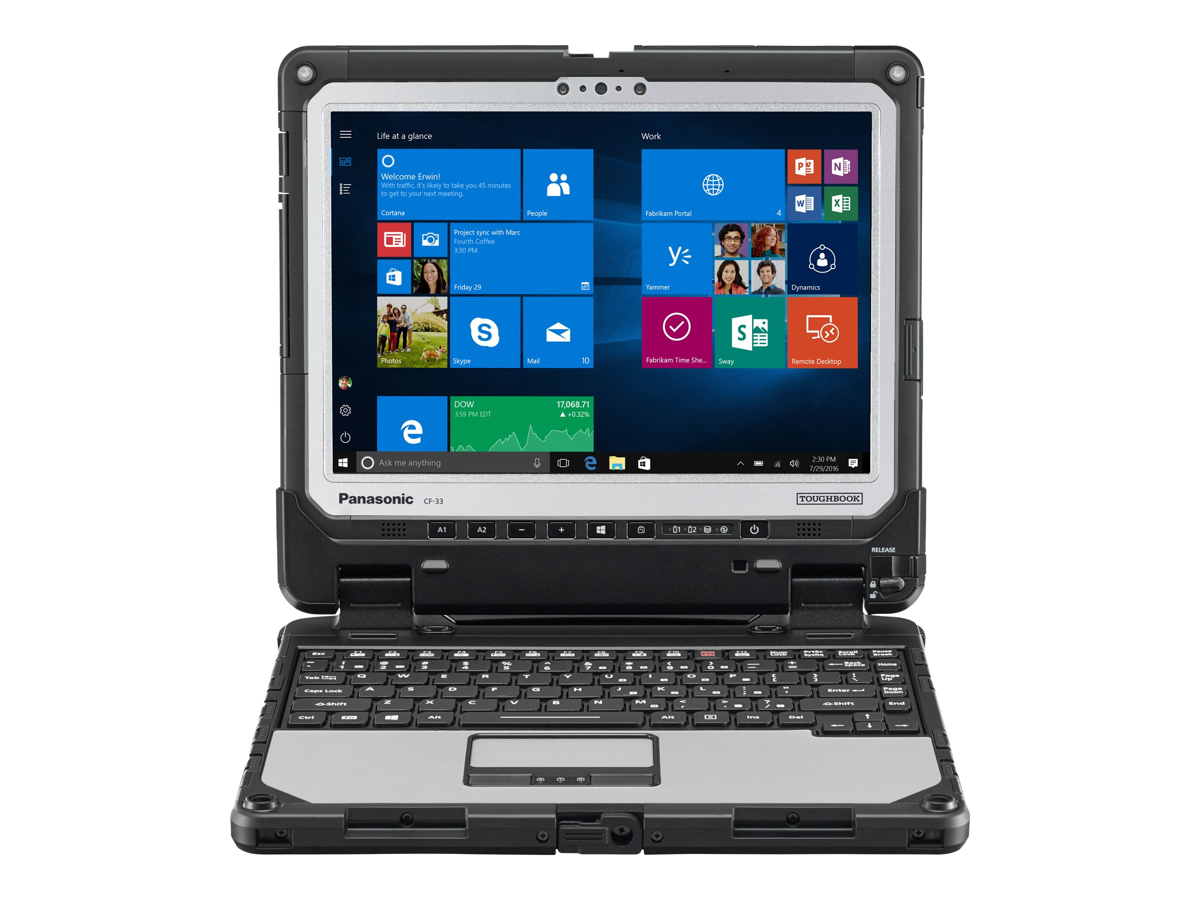 "Panasonic Toughbook 33 - 12"" - Core i5 6300U - vPro - 16 GB RAM - 256 GB SSD"