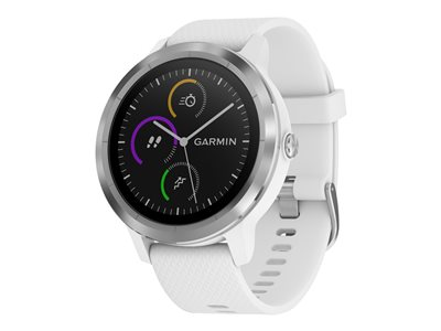 Garmin vívoactive 3 Stainless steel smart watch with band white Bluetooth, ANT+/ANT