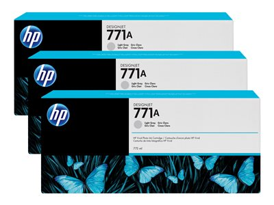 HP 771A Tri-pack 3-pack 775 ml light gray original ink cartridge