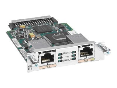 Cisco High-Speed - Erweiterungsmodul - HWIC - 10/100 Ethernet x 2 - für Cisco 1921 4-pair, 1921 ADSL2+, 19XX, 29XX, 38XX, 38XX V3PN, 39XX