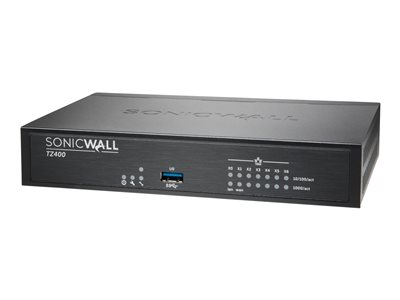 SonicWall TZ400 Advanced Edition security appliance 7 ports GigE