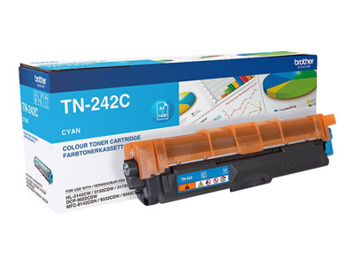 Brother TN 242C Cyan 1400 sider
