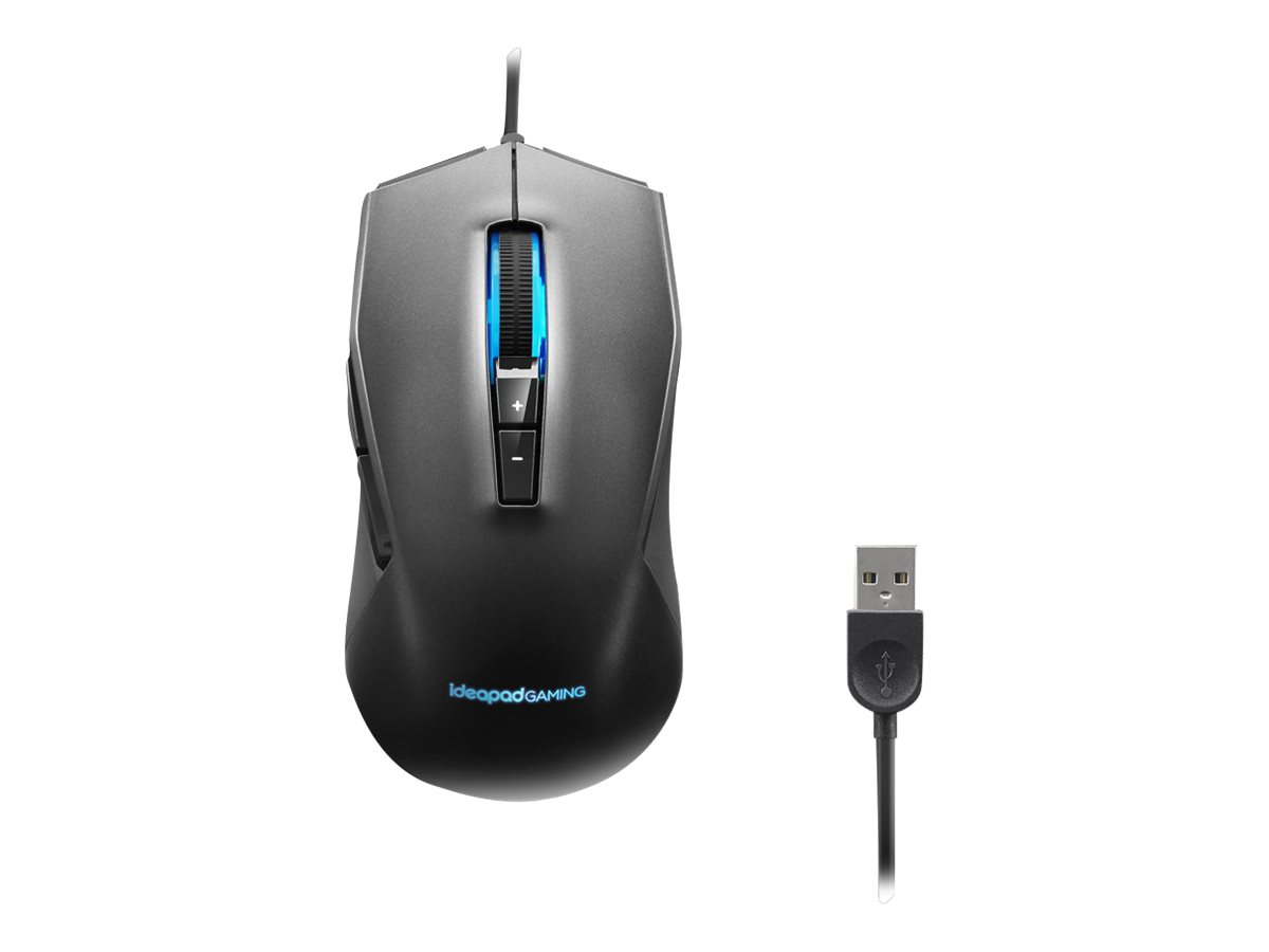 Lenovo IdeaPad Gaming M100 RGB Mouse - mouse - USB 2.0 - black