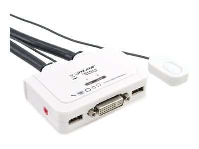 InLine - KVM-/Audio-/USB-Switch - 2 x KVM/Audio/USB - 1 lokaler Benutzer - Desktop