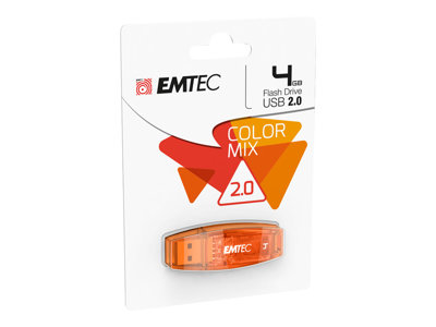 Clés USB EMTEC C410 Color Mix - clé USB - 4 Go