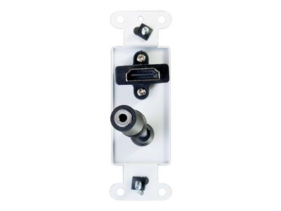 C2G HDMI and Audio Pass Through Wall Plate - White - 3.5mm Audio