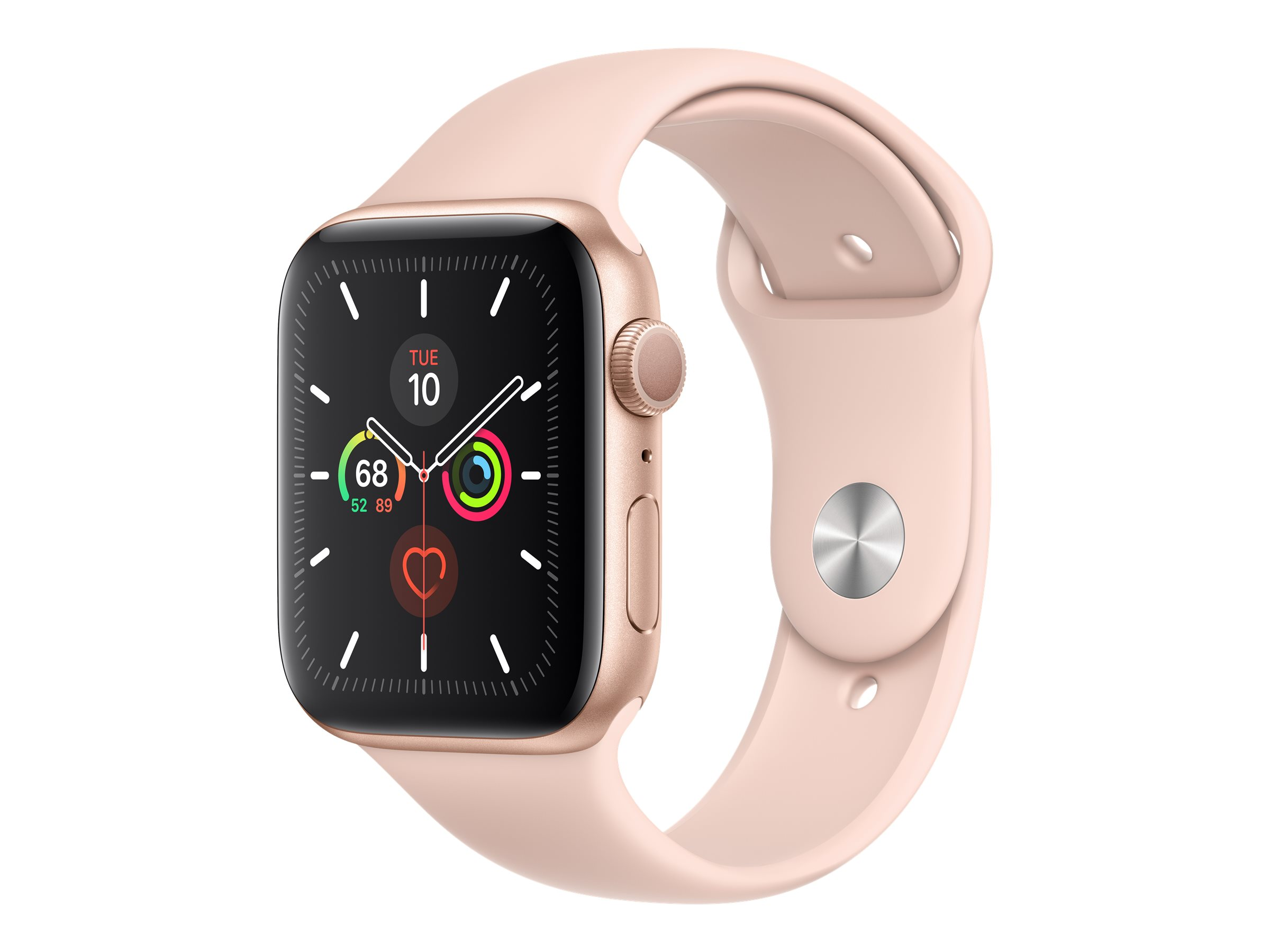 Apple Watch Series 5 (GPS + Cellular) - gold aluminum - smart watch with sport band - pink sand - 32 GB - not specified