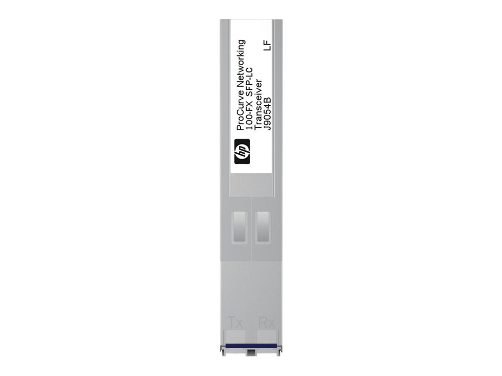 HPE X111 - SFP (Mini-GBIC)-Transceiver-Modul - Fast Ethernet - 100Base-FX - LC - für Aruba 2530, 2930F 24, 2930F 48, 5406; HPE 2810, 3500, 6600, E3500; OfficeConnect 1410 24