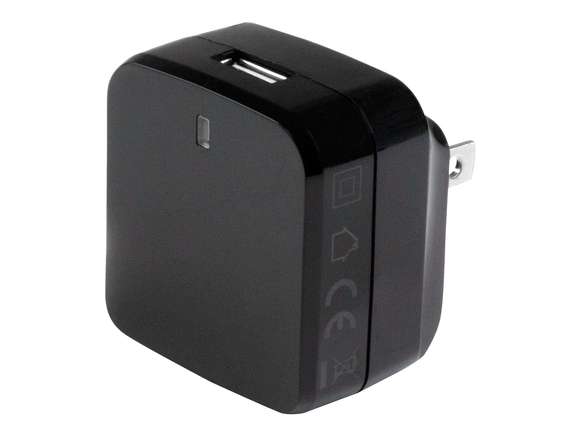 StarTech.com Black USB Wall Charger - Quick Charge 2.0 - 110V/220V Charger power adapter - USB