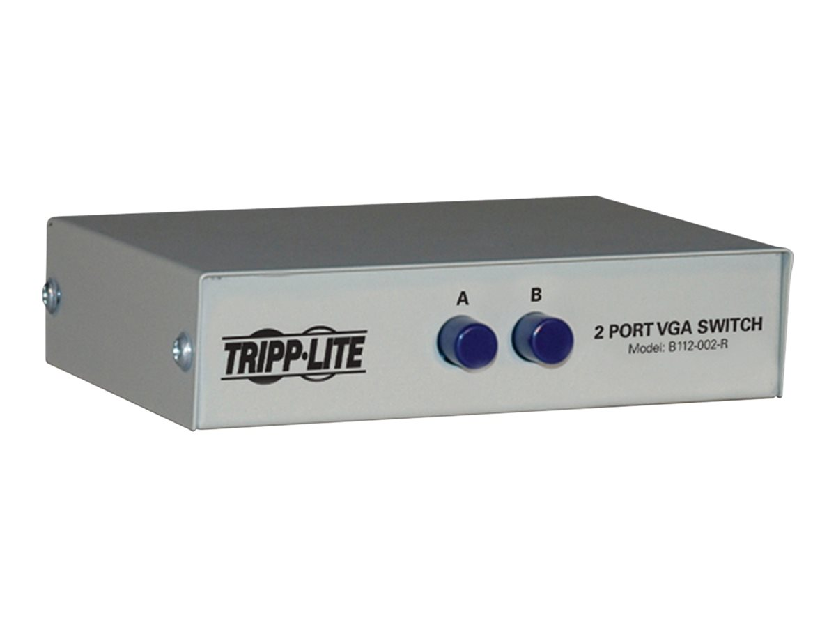 Tripp Lite 2-Port Manual VGA/SVGA Video Switch 3x HD15F Metal - video splitter/switch