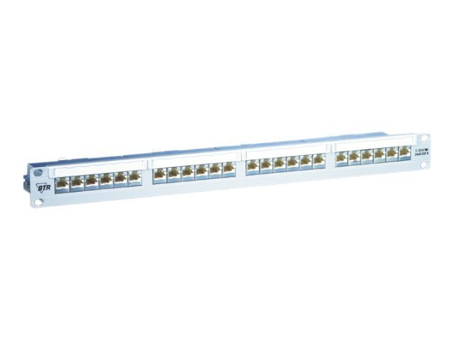 BTR E-DAT C6 24x8(8) - Patch Panel - RJ-45 X 24 - Silber - 1U - 19