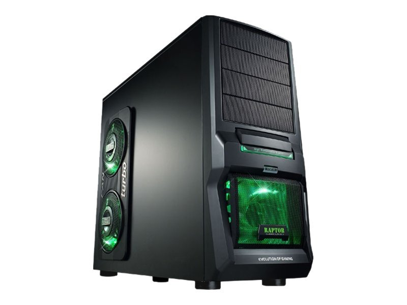 MS-Tech CA-0300 Raptor NG - Midi Tower - ATX - Grau, Schwarz - USB/Audio/E-SATA