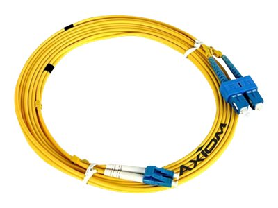 Axiom LC-LC Singlemode Duplex OS2 9/125 Fiber Optic Cable - 10m - Yellow - network cable - 10 m - yellow