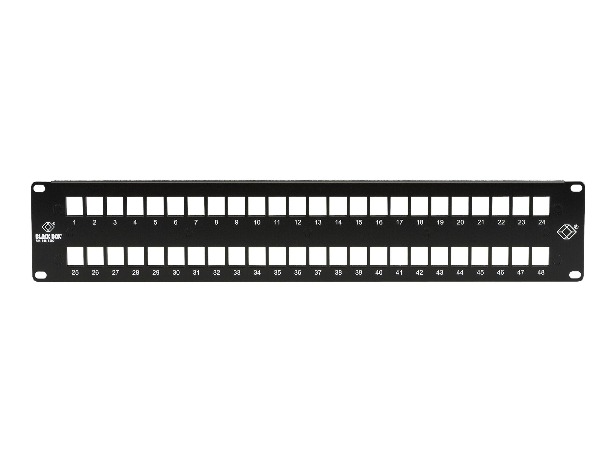 Black Box GigaStation2 High-Density Multimedia - patch panel - 2U