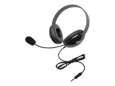 Califone Listening First Stereo Headset 2800TBK Headset full size wired black