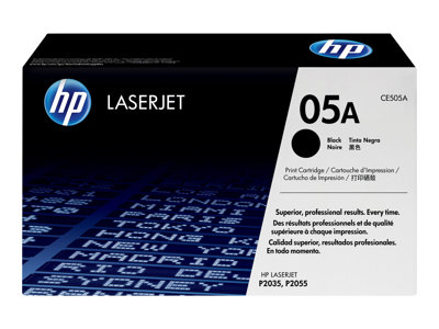 HP 05A - black - original - LaserJet - toner cartridge (CE505A)