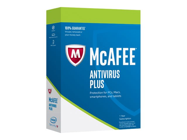 Image of McAfee AntiVirus Plus - subscription licence (1 year) - 10 devices